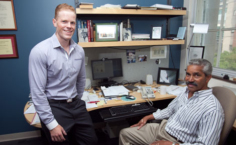 Neuroscientists Myles Minter and Sangram Sisoda