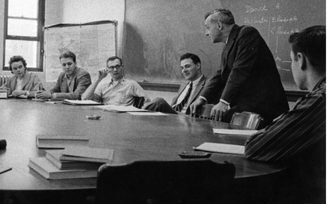 Saul Bellow in UChicago classroom