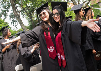UChicago students at Convocation