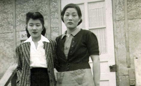 Mitsuye Yamada and mother