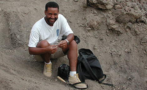 UChicago paleoanthropologist  Zeray Alemseged in Ethiopia