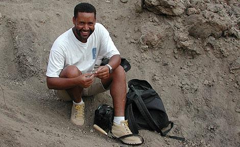 UChicago paleoanthropologist  Zeray Alemseged in Ethiopia