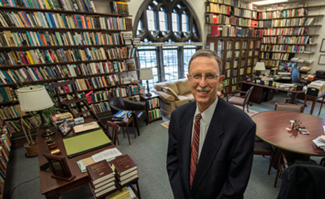 UChicago Dean John Boyer in his office