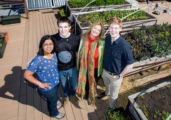 Maheswari Govindaraju (left to right), Alex Murray, Helen Cameron, and Andrew Stevens