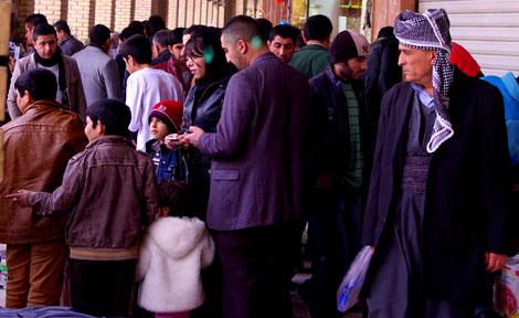 Bazaar inside Erbil