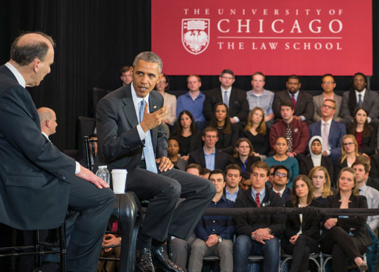 How long did it take for Obama to acquire his law degree?