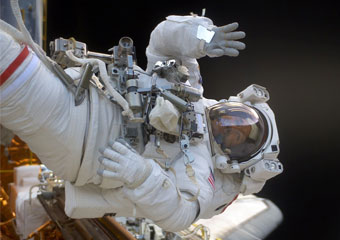 John Grunsfeld's space walk