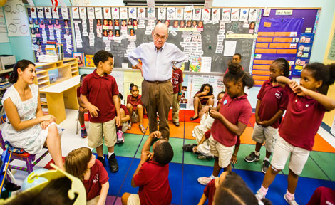 marvin hoffman and charter school students