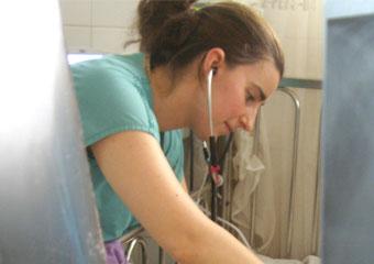 doctor works in hospital