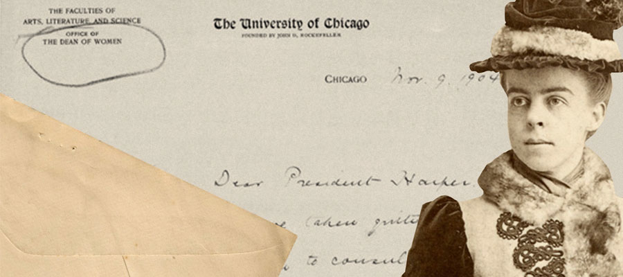 Marion Talbot, the first and only dean of women for the entire University of Chicago.
