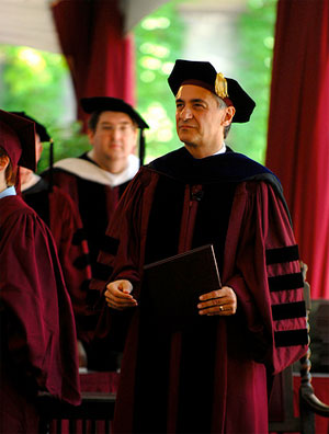 President Zimmer at Convocation